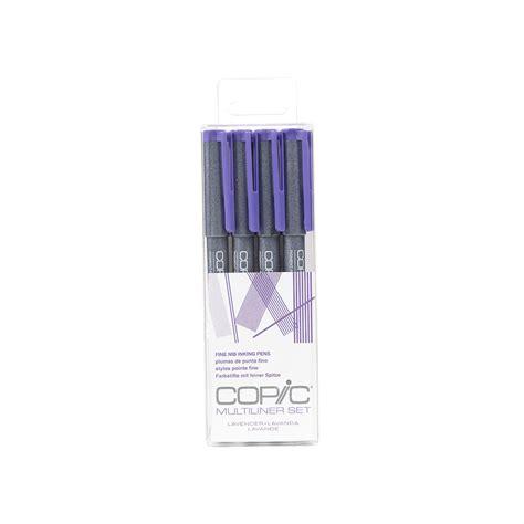 Copic Multiliner Pen Lavender Set buy copic multiliner 4pc set lavender