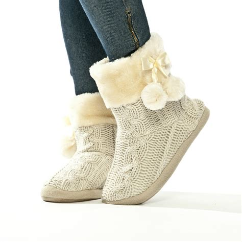 boot style slippers slippers womens indoor slipper boots bootie knitted