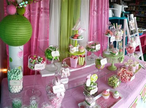 Baby Shower Decorations Pink And Green by Pink Amp Green Baby Shower Party Ideas Photo 6 Of 8