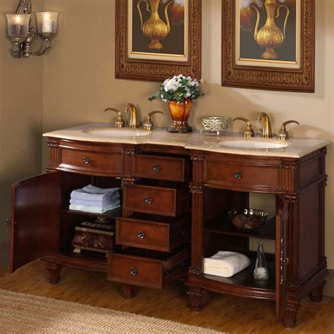 6722 t 60 60 sink vanity travertine top cabinet