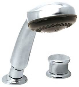 held shower for bathtub faucet pfister r15 407c hand held shower for roman tub modern bathtub faucets by plumbersstock