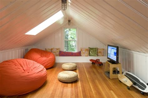 attic area cleverly increase living space by making use of unused