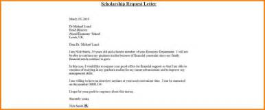 Sle Cover Letter For Scholarship by Exle Scholarship Cover Letter