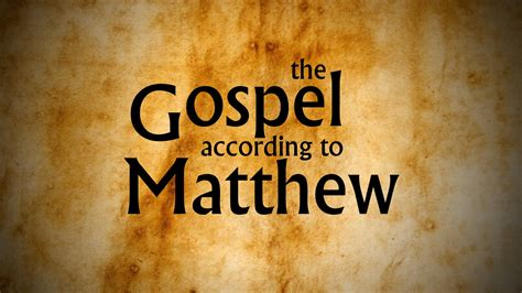 the gospel of matthew through new volume one jesus as israel books class audio otter creek church