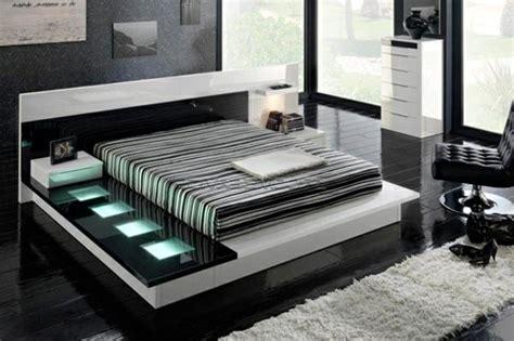 schwarze besser im bett moderne betten mit led besser schlafen
