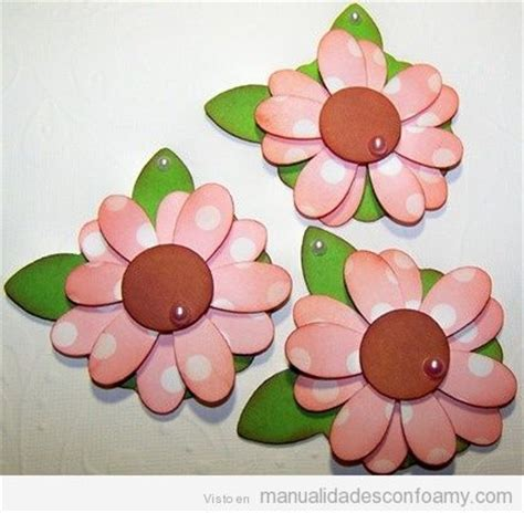 flores de foamy o goma eva planas o con termoformado fino flores goma eva manualidades con foamy manualidades de