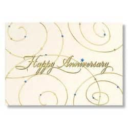 golden employee anniversary card