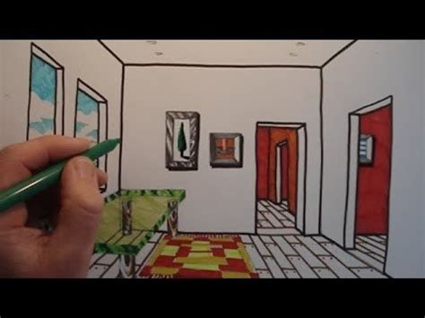how to draw a 3d room how to draw a room with one point perspective
