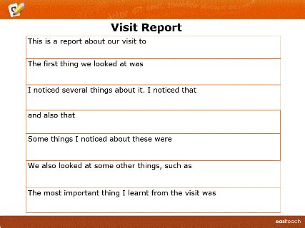 site visit report template template writing frame visit report rm easilearn us