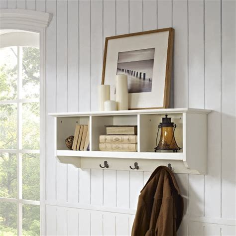 entryway storage shelf crosley furniture brennan entryway storage shelf with