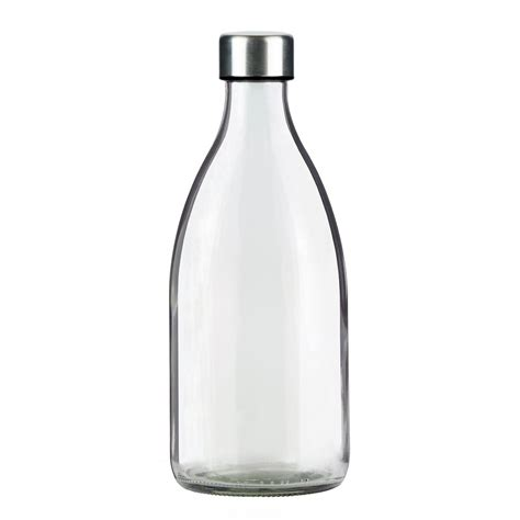 a l out of a wine bottle clear 1 0l fridge glass bottle stainless lid grip and
