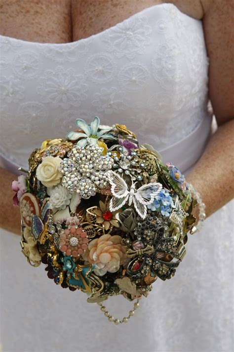 Wedding Bouquet Made Of Brooches by Wedding Bouquet Made Out Of Brooches Florals