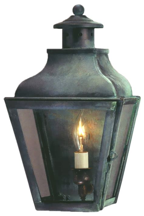portland solid copper lantern wall sconce light for sale