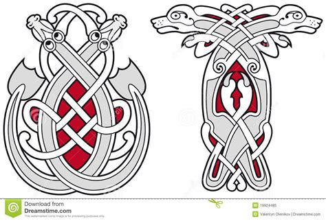 set of celtic animals design elements royalty free stock