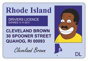 cleveland s driver s licence by cartmanpt on deviantart