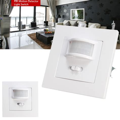 motion sensor light switch led compatible 140 degree infrared pir motion sensor recessed wall l