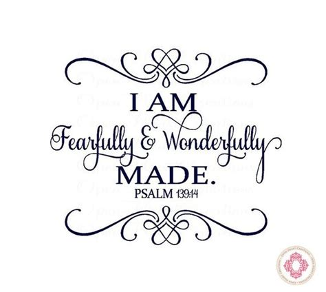 i am fearfully and wonderfully made tattoo baby nursery wall decal i am fearfully and wonderfully made