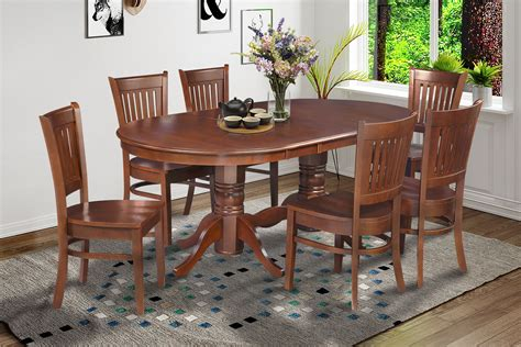 9 pc vancouver oval dinette kitchen dining room set table 9 pc oval dinette kitchen dining room set 42 quot x78 quot table