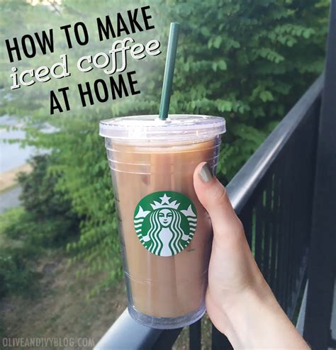 how to make iced coffee at home olive