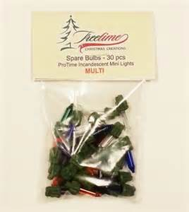 protime multicolor pre lit christmas tree spare bulb kit