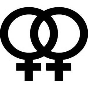 Lesbian symbol vinyl sticker decal gay pride woman dressxpress