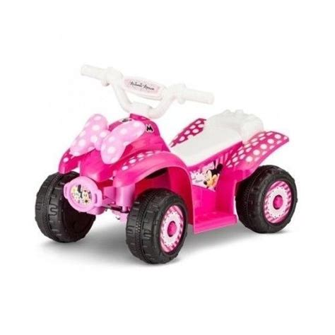 toddler motorized car disney minnie mouse electric battery powered atv 4 wheeler