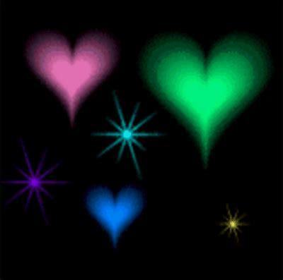 imagenes de corazones brillantes y estrellas con movimiento imagenes de corazones con movimiento