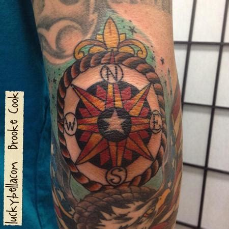 new school elbow tattoo elbow compass by brooke cook tattoonow