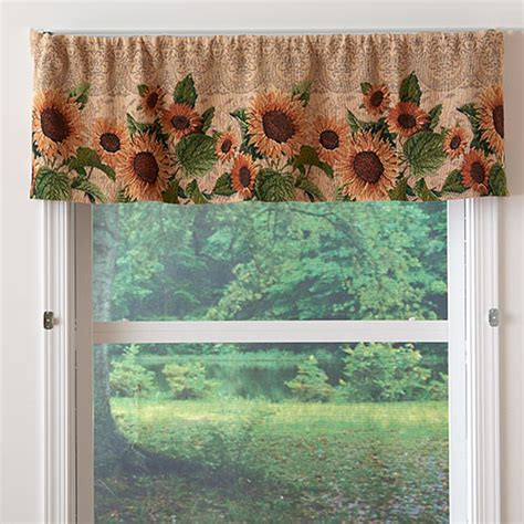 sunflower curtains window treatments tapestry valances window treatments 28 images achim