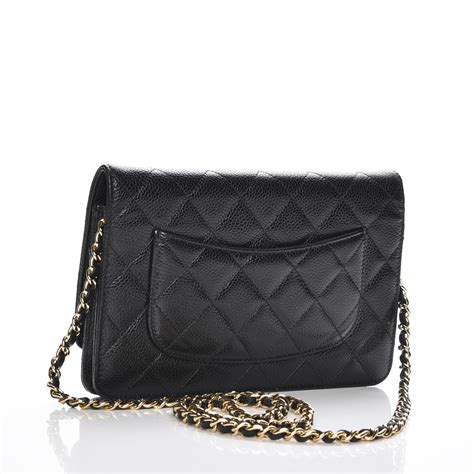 Chanel Caviar Chain chanel caviar quilted wallet on chain woc black 218507