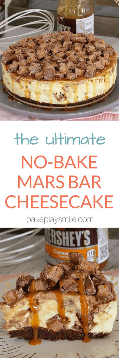 No More Mars Bars For Veggies by The Ultimate No Bake Mars Bar Cheesecake Bake Play Smile
