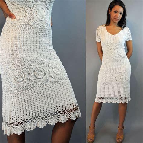 Hq 3712 Pattern Dress White crochet dress deals on 1001 blocks