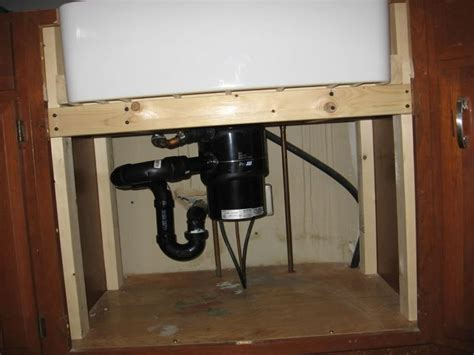 Installing Farmhouse Sink In Existing Cabinets by Photos Of Frame Work For A Farm Sink Kitchen Remodel
