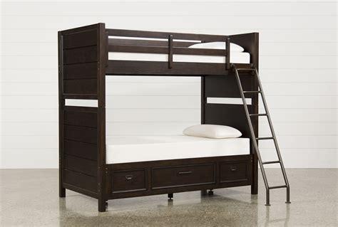 living spaces bunk beds elliot twin twin bunk bed w underbed storage living spaces