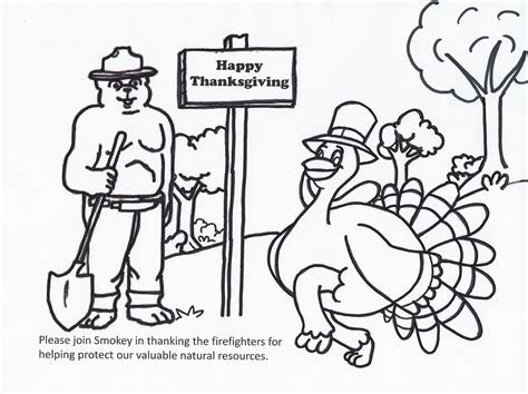 smokey bear coloring pages