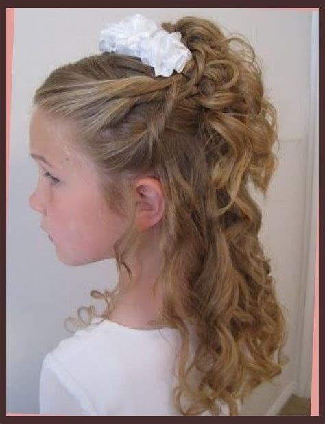 hair styles for age 52 hair up on pinterest little girl updo communion and