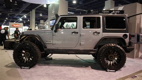 are jeeps for jeep wrangler suvs at the 2016 sema aftermarket parts show
