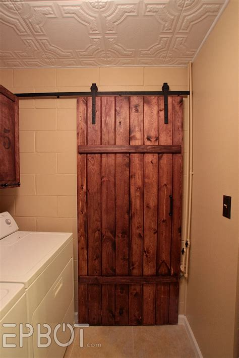 epbot make your own sliding barn door for cheap