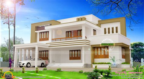flat house plans modern flat roof house plan by vision int arch kerala