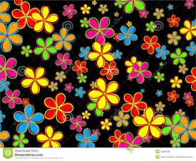 funky designs retro flower wallpaper design royalty free stock photo