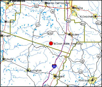 Leflore County Court Records Wilson Wad Cemetery Carroll County Mississippi
