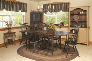Country Dining Room Curtains Primitive Dining Table Chairs Set Farmhouse Furniture Harvest Country Kitchen Ebay