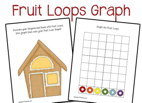 printable graphs for pre k fruit loops graph prekinders