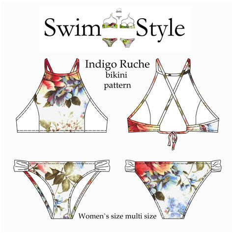swimwear pattern making books indigo ruche bikini pattern women swim style