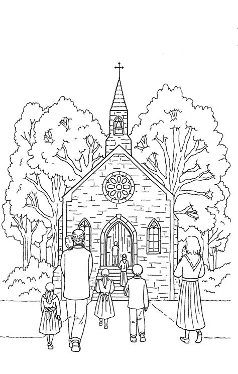 desenho de pessoas desenho de pessoas indo 224 igreja para colorir tudodesenhos
