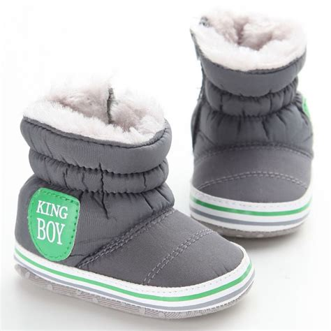 Squishy Snow Boots new baby boy snow boots warm plush winter navy infant boot toddler shoes soft prewalker shoe in