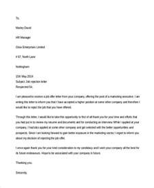 Request Refusal Letter Exle 13 Refusal Letter Exle Free Premium Templates