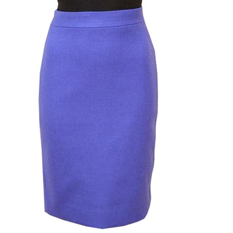 linen blend festival blue pencil skirt elizabeth s