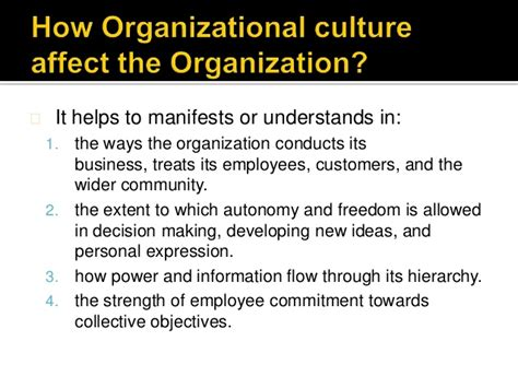 how leaders can impact organizational cultures with their actions how organizational culture have an impact on employee