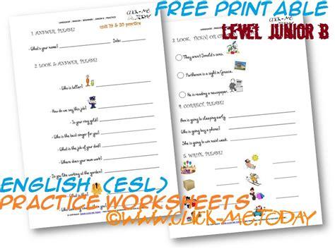 free printable english worksheets beginners free printable english esl junior b practice worksheets book